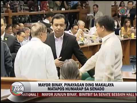 Binay binitbit sa Senado para sa pagdinig