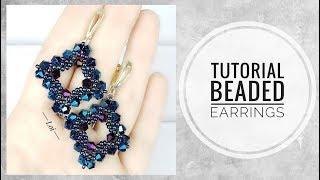 #МК - Плетеные серьги из бисера и биконусов   #Tutorial - Braided earrings with beads and bicones