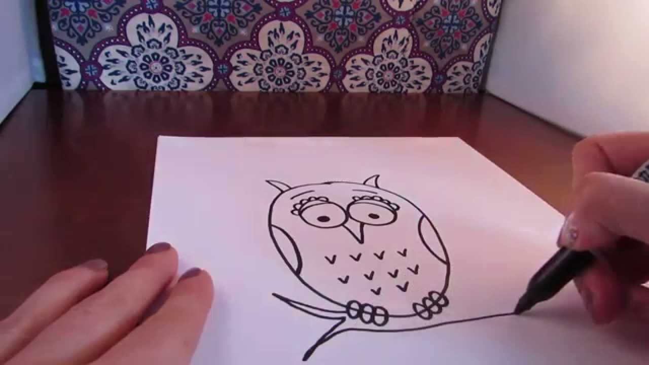 how to draw an owl simple narrated step by step youtube