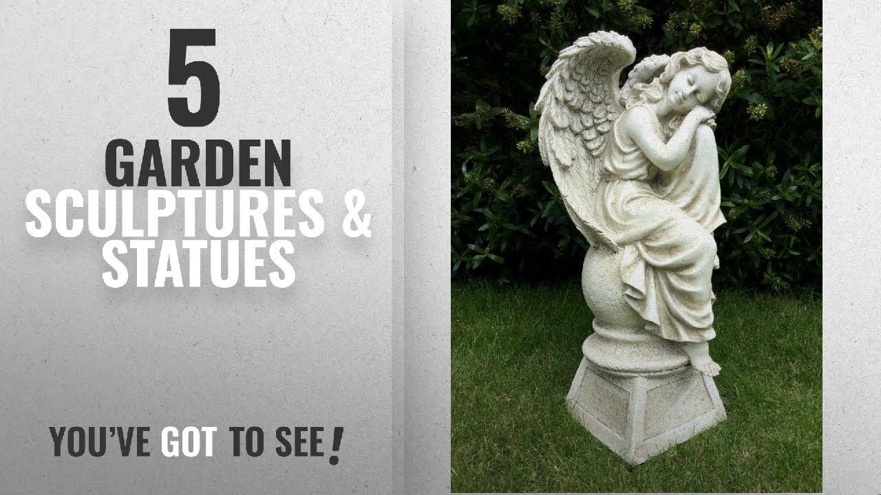Top 10 Garden Sculptures U0026 Statues [2018]: LARGE SITTING ANGEL GARDEN  ORNAMENT SCULPTURE STATUE