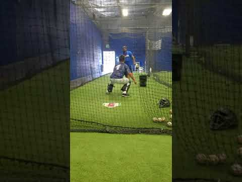 Adrian Aguilar catching drills and throwing