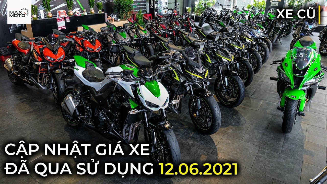 Cập nhật giá xe Kawasaki đã qua sử dụng 12.06.2021 | Kawasaki | Maxmoto