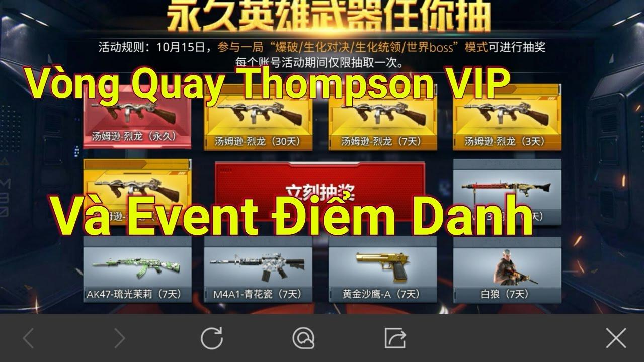CF Mobile | Hướng dẫn quay vòng Thompson VIP và Event Điểm danh !