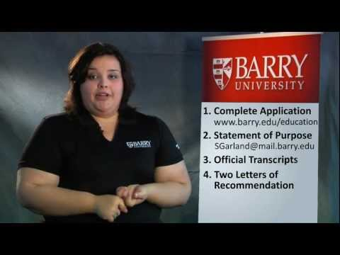How to Apply to Barry University's Graduate Education Programs