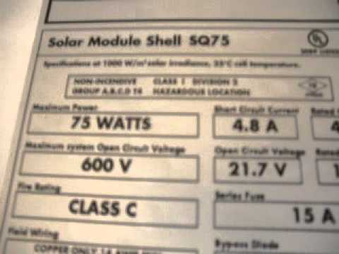 Understanding the Solar Photovoltaic Module Labeled Values