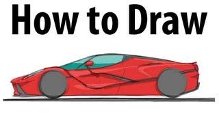 How to draw a Ferrari LaFerrari - Sketch it quick!