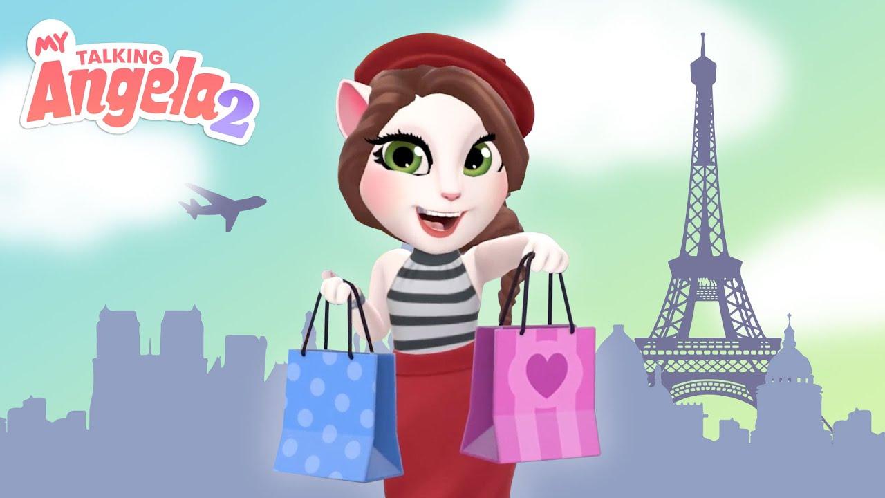 🇫🇷 🥐 Angela Goes to Paris! 🇫🇷 🥐 NEW My Talking Angela 2 Gameplay