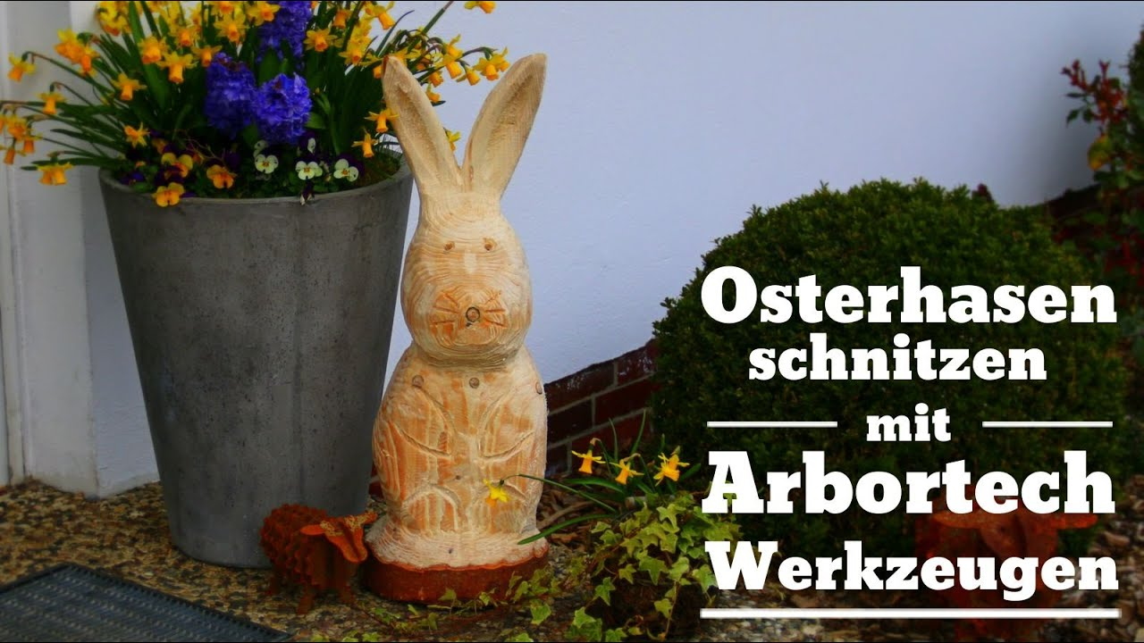 mit arbortech werkzeug osterhase hase schnitzen youtube. Black Bedroom Furniture Sets. Home Design Ideas