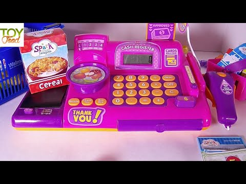 Cash Register Toy and Shopping for Pretend Toy Groceries