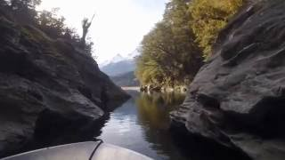 Dart River NZ / Small Jet Boat / winter 2016