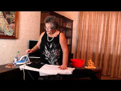 Как убрать блеск с брюк от утюга