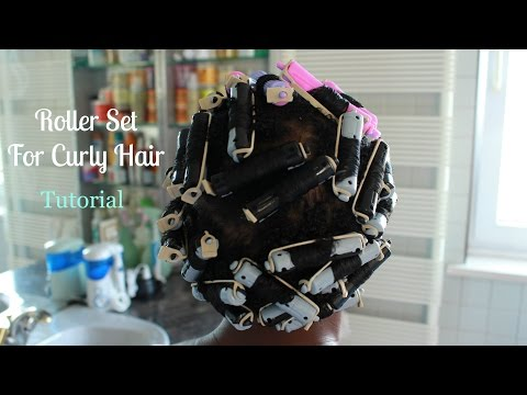 Roller Set Hairstyle On Natural Curly Hair