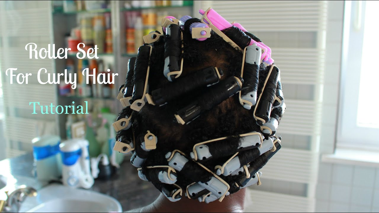 Roller Set Hair style On Natural Curly Hair  ThinFine