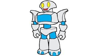 robot easy drawing draw simple step drawings paintingvalley