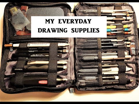 Graphite Drawing Supplies & Materials, What's in My Pencil Case