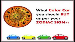What Color Car you should BUY for your Zodiac Sign | Bania Speaks.