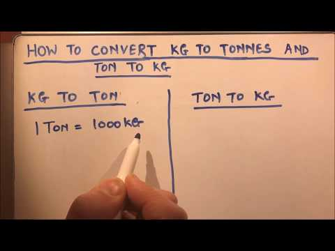 HOW TO  CONVERT KG TO TONNES AND TONNES TO KG Mp3