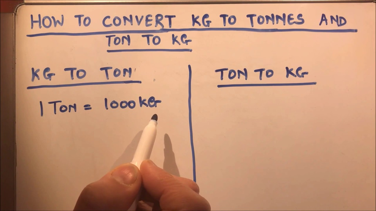 how to convert kg to tonnes and tonnes to kg youtube. Black Bedroom Furniture Sets. Home Design Ideas
