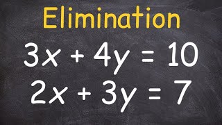 Solving a System of Equations Using Elimination and Multipliers thumbnail