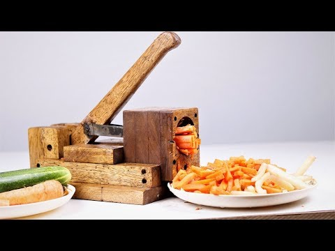 How to Make a Wooden Hand press Vegetable Cutter. | DIY |