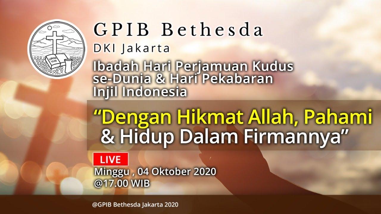 Ibadah Hari Perjamuan Kudus se-Dunia & Hari Pekabaran Injil Indonesia (04 Oktober 2020) - SORE