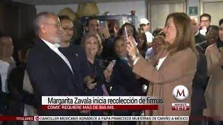 Margarita Zavala inicia recolección de firmas en CdMx