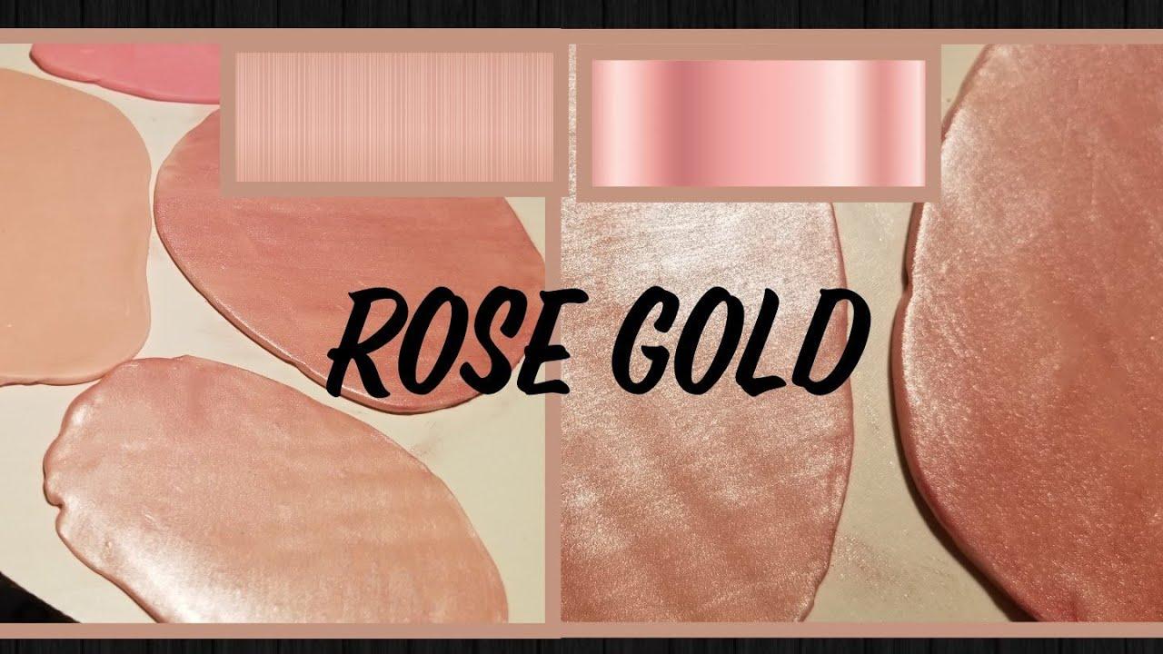 Rose Gold Fondat Como Sacar El Color Rosa Dorado En Fondant
