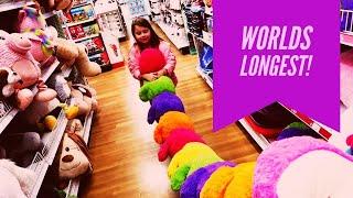 Worlds Longest Stuffed Animal At Toys R Us