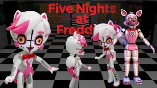 Custom FNaF Funtime Foxy Rainbow Dash Pony Five nights at Freddy s