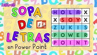 Realiza SOPA DE LETRAS en Power Point   Miss Kathy   Zukistrukis