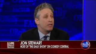 "Foxxxed Up News: Jon Stewart on ""The No Spin Zone"" (2 of 2)"