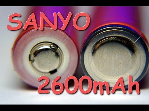 Sanyo 18650 емкостью 2600 мач. Это лучшие бюджетные li-ion аккумуляторы данного формата. Они отлично себя зарекомендовали в качестве надежного источника энергии не только для светодиодных фонарей, но и аккумуляторов для ноутбуков и электромобилей. Sanyo умеют делать аккумуляторы и.