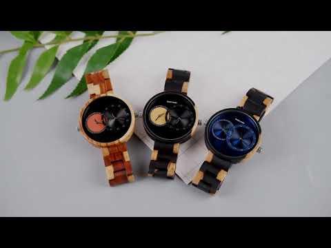 BOBO Vintage Holz Uhr