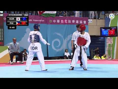 8th Asian Junior Taekwondo Championships. Final male -48