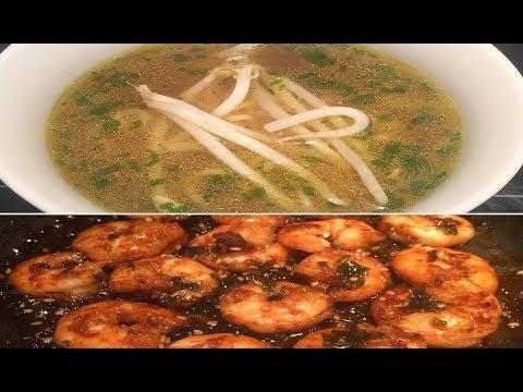 soupe-asiatique-et-crevettes-soja/miel-🍵