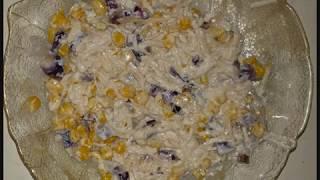 Новогоднее меню: Салат из репы и кукурузы с луком