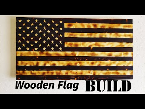 Rustic Wooden American Flag Build!