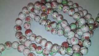 1x 80cm Strands(about 1x140PCs) White Mottled Glass Round Loose Beads 6mm ( how to make jewelry)