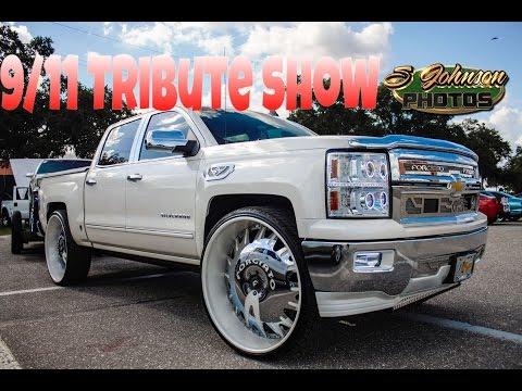9/11 Tribute Show (Big rims, tuners, lifted trucks, hydros, and loud music) in HD (must see)