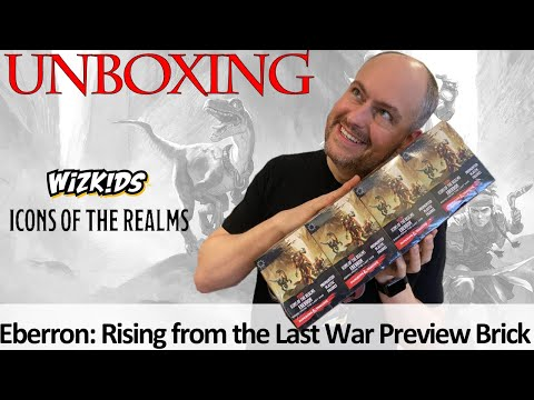 PREVIEW: Unboxing Eberron: Rising From The Last War Brick - D&D Icons Of The Realms Minis