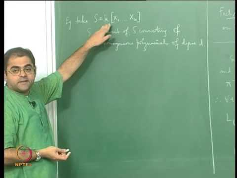 Mod-10 Lec-24 Translating Projective Geometry into Graded Rings and Homogeneous Ideals