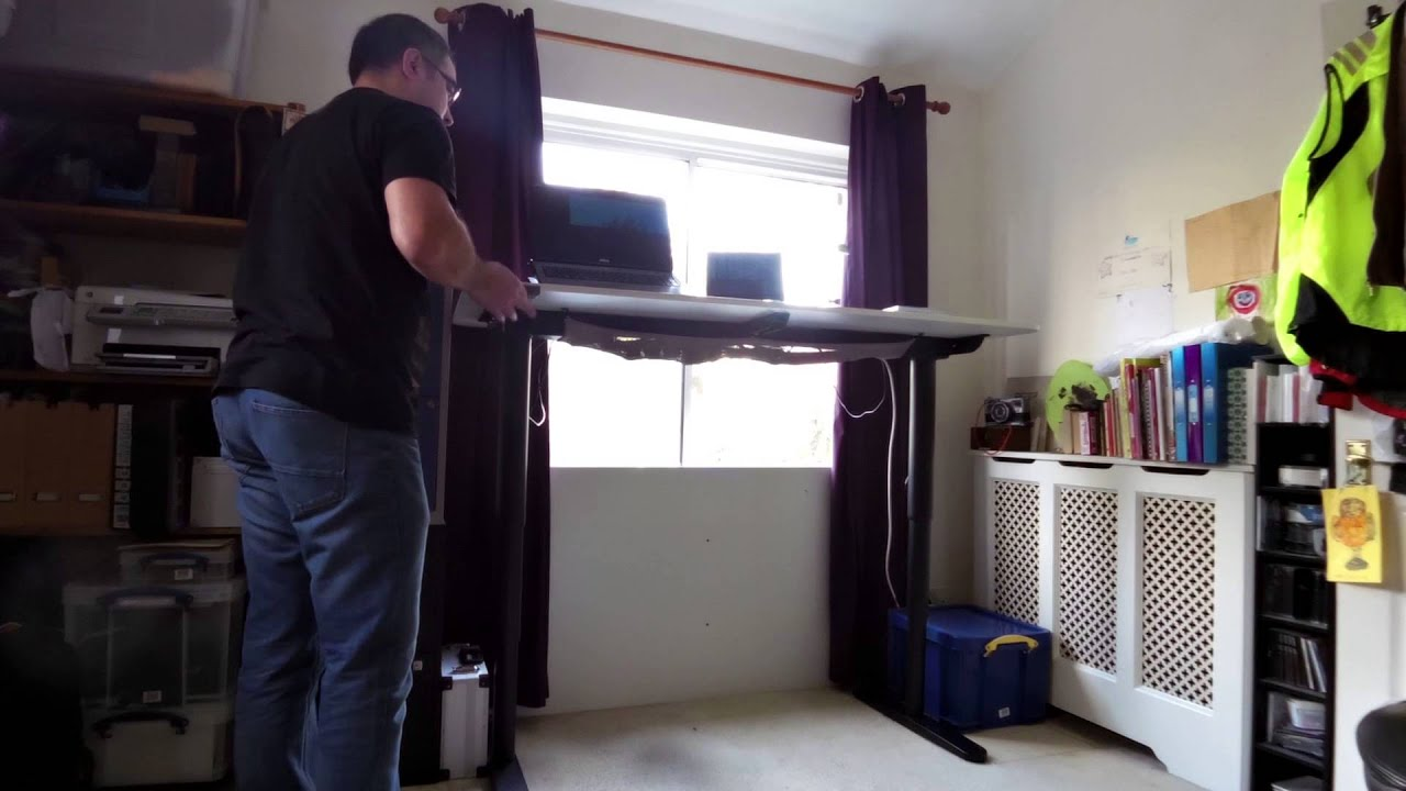 ikea sitting standing desk youtube bekant desk sit stand ikea