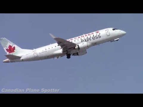 Air Canada Express ERJ-175 Takeoff from Ottawa Int'l Airport