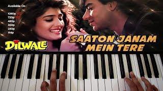 Saaton Janam Mein Tere Hindi Piano/Keyboard Tutorial By Ankush Harmukh