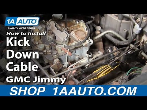 How to Replace Kick Down Cable 82-91 GMC Jimmy Full Size