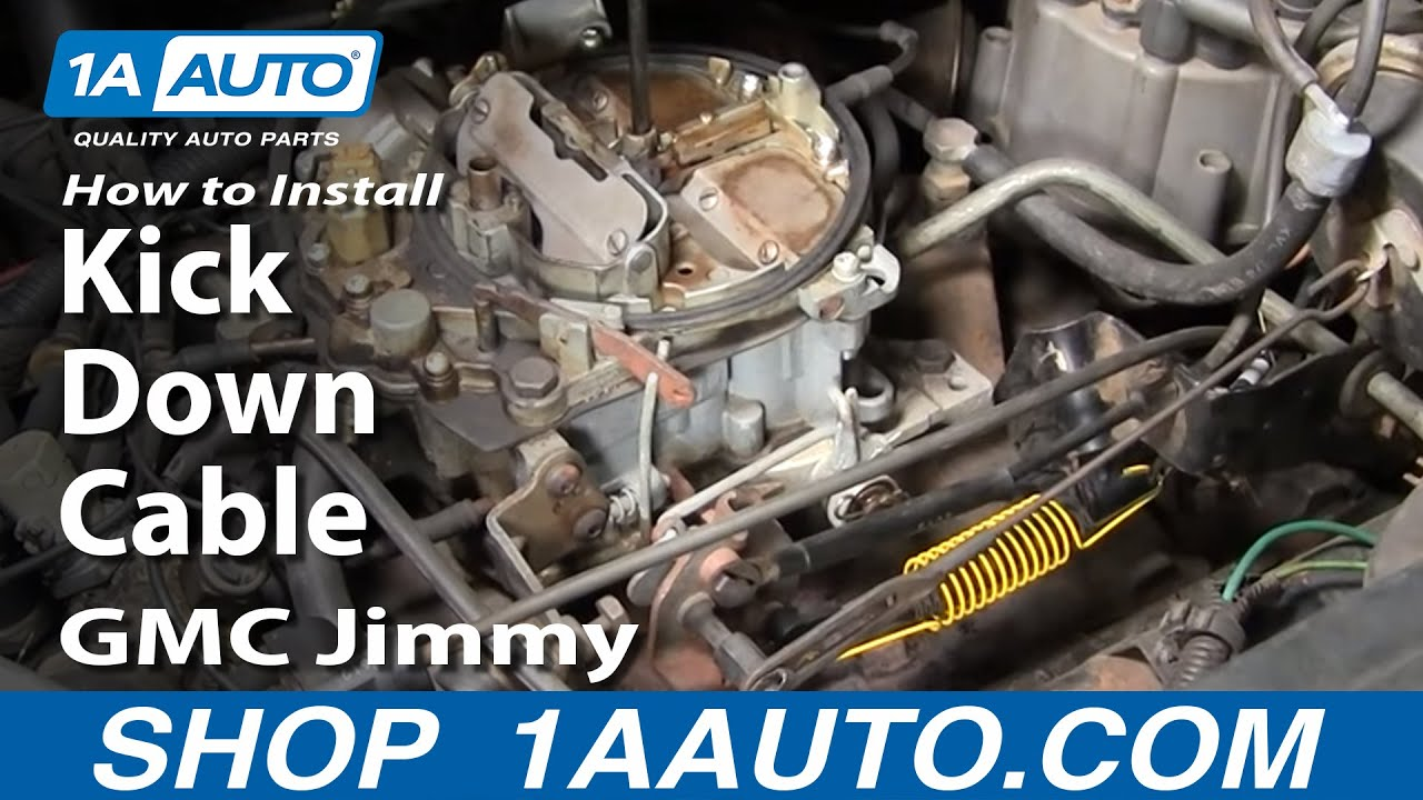 How To Install Replace 700r4 Transmission Downshift Detent Cable 87 S10 Wiring Diagram 1aautocom