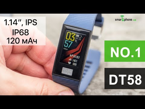 NO.1 DT58 - фитнес браслет с ярким IPS экраном и IP68