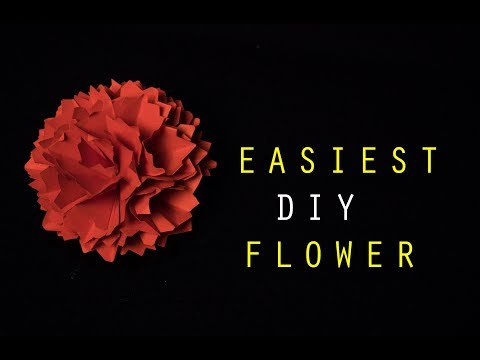 Extremely easy diy  circle paper flower /hobby craft ideas