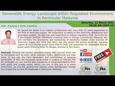 Renewable Energy Landscape within Regulated Environment in Peninsular Malaysia