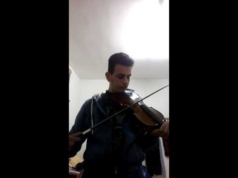 Playing with violin Ahmed Issa